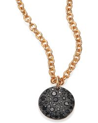 Pomellato - Sabbia Black Diamond & 18k Rose Gold Pendant - Lyst