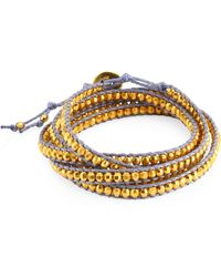Chan Luu - Yellow Gold Wrap Bracelet - Lyst