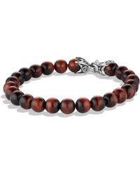 David Yurman - Spiritual Beads Red Tiger's Eye Bracelet - Lyst