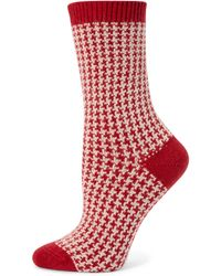Ilux | Gigi Houndstooth Socks | Lyst