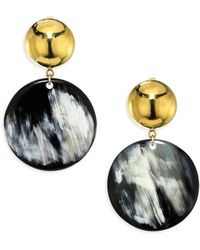 Nest - Horn Disc Earrings - Lyst