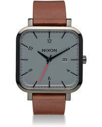 Nixon - Leather Strap Watch - Lyst