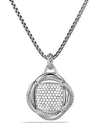 David Yurman - Infinity Large Pendant With Diamonds - Lyst