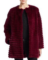 Saks Fifth Avenue - Dyed Rabbit Jacket - Lyst