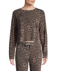 Sundry - Leopard Print Pullover - Lyst
