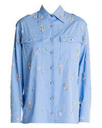 Prada - Poplin Shirt - Lyst