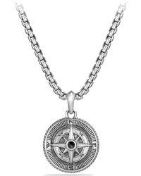 David Yurman - Maritime Diamond & Sterling Silver Compass Amulet - Lyst
