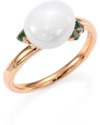 Pomellato - Tsavorite, Ceramic & 18k Rose Gold Ring - Lyst