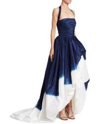 Oscar de la Renta - Silk Halterneck Dip-dyed Ball Gown - Lyst