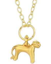 Temple St. Clair - Standing Lion Diamond & 18k Yellow Gold Pendant - Lyst