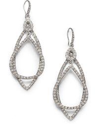 ABS By Allen Schwartz - Pavé Double Loop Earrings - Lyst