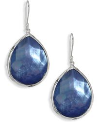 Ippolita - 925 Rock Candy Blue Topaz Teardrop Earrings - Lyst