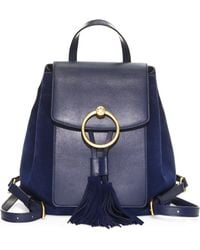 Tory Burch - Farrah Leather Backpack - Lyst