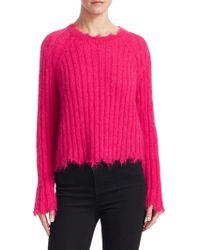 IRO - Cropped Crewneck Sweater - Lyst