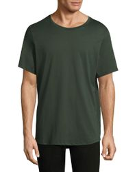 Theory - Curved Hem Cotton Tee - Lyst