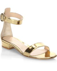 Gianvito Rossi - Portofino Leather Sandals - Lyst
