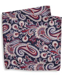 Saks Fifth Avenue - Collection Paisley Textured Pocket Square - Lyst