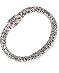 John Hardy - Classic Chain Sapphire & Sterling Silver Medium Bracelet - Lyst