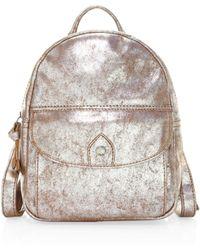 Frye - Melissa Distressed Metallic Backpack - Lyst