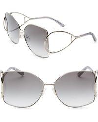 98759205054 Chloé - Jackson Oversized Metal Square Sunglasses - Lyst