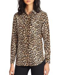 Equipment - Slim Signature Silk Leopard-print Shirt - Lyst