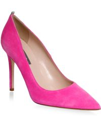 SJP by Sarah Jessica Parker | Fawl Stiletto Suede Court Shoes | Lyst