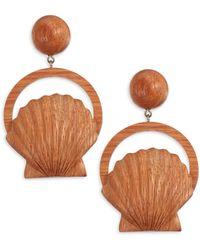 Rebecca de Ravenel - Venus Bayong Wood Drop Earrings - Lyst
