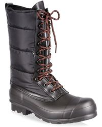 HUNTER - Original Quilted Nylon & Rubber Boots - Lyst
