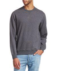 Brunello Cucinelli - Crewneck Cotton Sweatshirt - Lyst