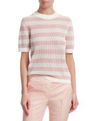 Akris Punto - Striped Cotton Short-sleeve Top - Lyst