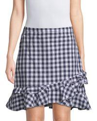 Draper James - Gingham Ruffle Skirt - Lyst