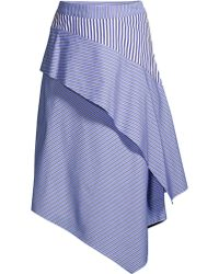 3ac8ccb030 Maje - Women's Striped Handkerchief Skirt - Striped - Lyst