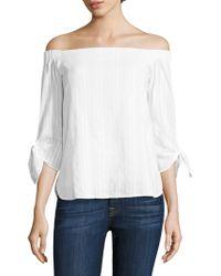 Bailey 44 - Yarrow Off-the-shoulder Cotton Top - Lyst
