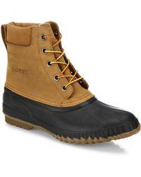 Sorel - Cheyanne Grain Leather Boots - Lyst