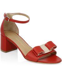 Ferragamo - Gavina Studded Ankle-strap Sandals - Lyst