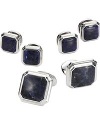 David Donahue - Octagonal Sodalite Sterling Silver Cuff Links Set - Lyst
