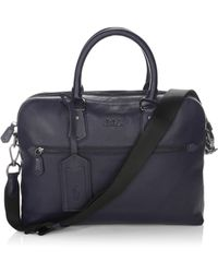Polo Ralph Lauren - Pebbled Leather Commuter Bag - Lyst