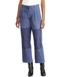 Polo Ralph Lauren - Patched Straight Leg Pants - Lyst