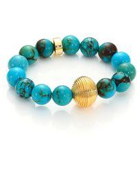 Nest - Turquoise Beaded Bracelet - Lyst