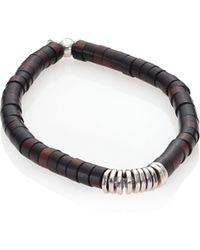 Tateossian - Silver Bamboo Bracelet - Lyst