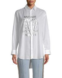Each x Other - Metallic Logo Poplin Shirt - Lyst