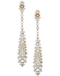 Adriana Orsini - Leia Swarovski Crystal Linear Drop Earrings - Lyst