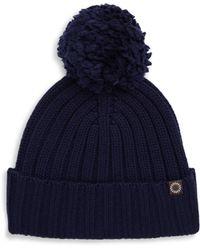 UGG - Ribbed-knit Pom-pom Beanie - Lyst