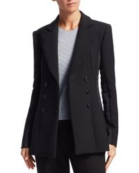 Armani - Double-breasted Wool Jacket - Lyst