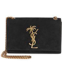 e562efd25c0519 Saint Laurent - Small Kate Palm Tree Leather Shoulder Bag - Lyst