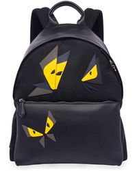 Fendi - Butterfly Leather & Tech-twill Backpack - Lyst