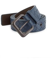 Bottega Veneta - Intrecciato Woven Leather Belt - Lyst