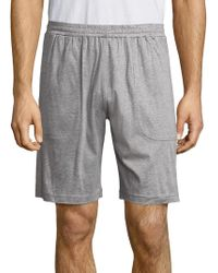 Saks Fifth Avenue - Heathered Cotton Shorts - Lyst