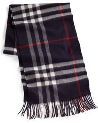 Burberry | Cashmere Check Scarf | Lyst
