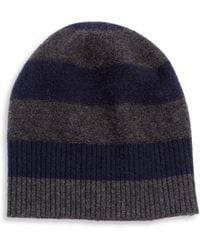 Vince - Striped Cashmere Beanie - Lyst